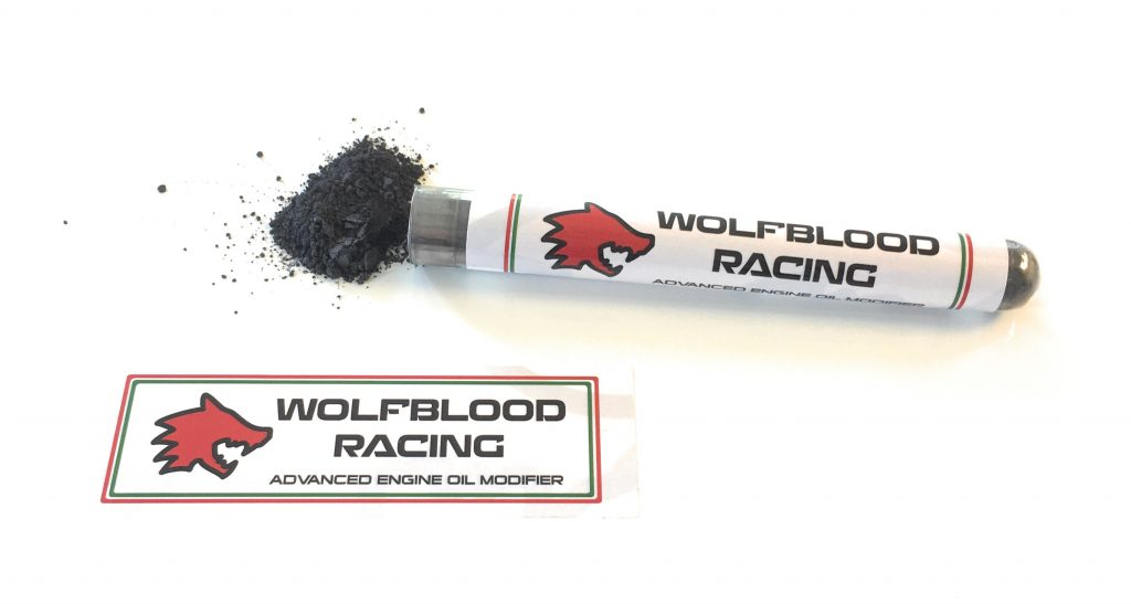 dry blasting Wolfblood racing advanced engine oil modifier powder