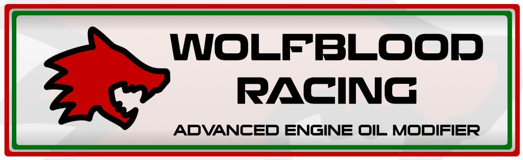 wolfblood racing engine oil modifier additive motorsport racing grease lubricant motor logo